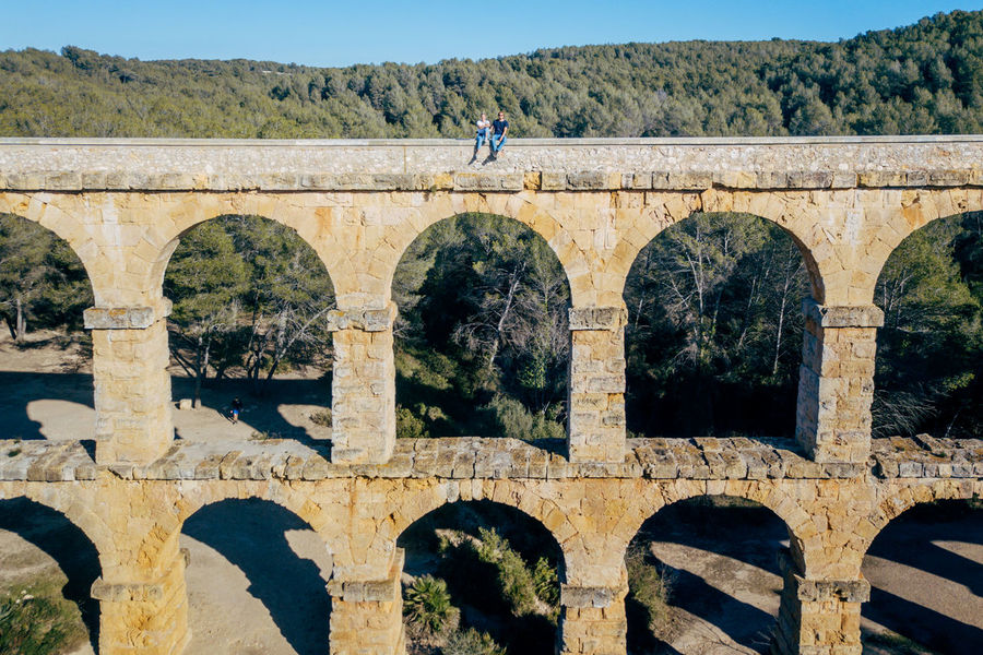 Aqueduct DJI X Eyeem Drone  The Ferreres Aqueduct Adult Adults Only Aerial Aerial View Arch Architecture Bird Bridge Bridge - Man Made Structure Built Structure Day Dronephotography Full Length History Men Old One Man Only One Person Only Men Outdoors People Real People Standing