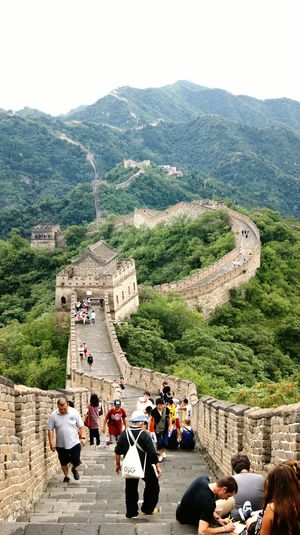 The chinese wall... The Chinese Wall Wall Chinese Wall Brick Wall Bricks Nature Man Made Forest Tree Trees Bush Bushes People Human Human Creation Taking Photos China Memories Vacation Trip Travel Traveling Chinese Culture EyeEm China Enjoying Life