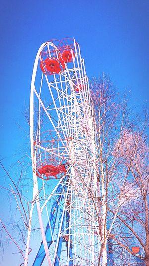 весна пришла весна ♥ Clear Sky Blue Amusement Park Day Sky First Eyeem Photo Ivanovo Hello World