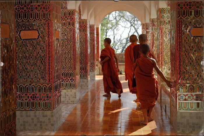 Young monks at Mandalay Hill, Myanmar