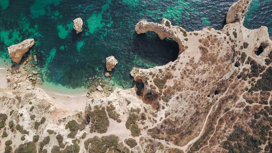 Algarve From Above  Nature Photography Perspectives On Nature Portugal Travel Photography Beach Beauty In Nature Dronephotography High Angle View Landscape Nature Nature_collection No People Outdoors Scenics Sea Tranquility Vacation Water