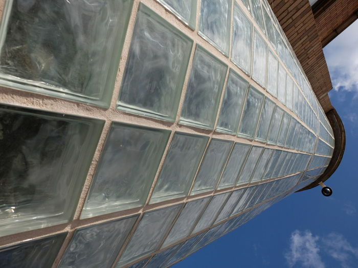 Architecture Building Exterior Dramatic Angles Fujifilm X30 Geometric Shape Glass - Material Leicester Uk Low Angle View Office Block Sixties Style