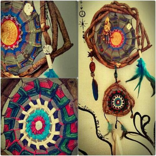 Artesanatos Roots Peace Reflecting Art Dreamcatcher