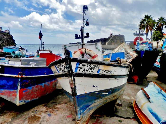 Boats No People Madeira Madeira Island Travelling Photography Outdoors Colors Travels Rural Scenes Fishing Boats