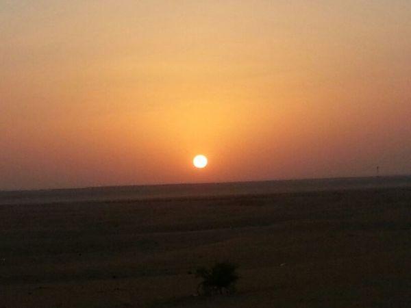 Sunset Sunrise_sunsets_aroundworld Sunsunset Collection Camping sunset in Alatheriya KSA.