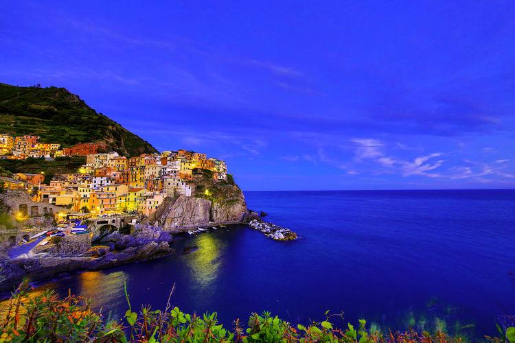 Boat Building Cinque Terre Italy Manarola Night Sea Sky Slow Shutter Sunset Vineyard