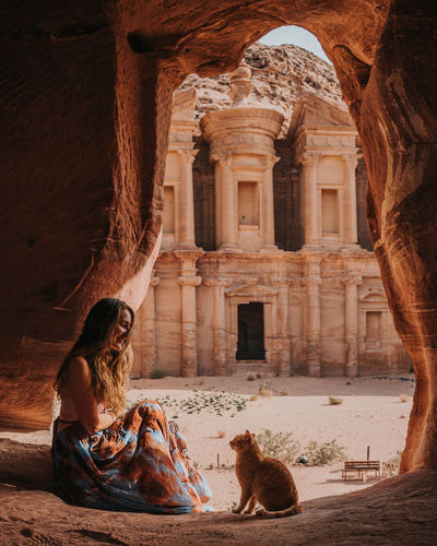 Petra with a cat