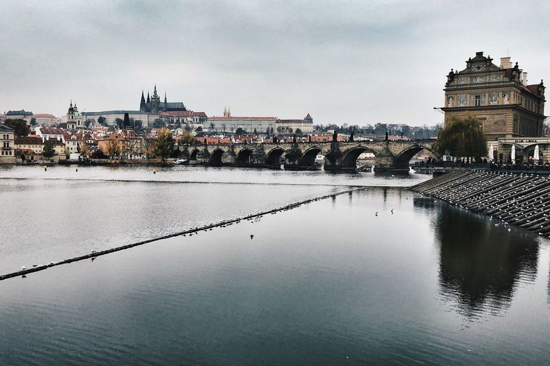 Czech Heritage Czech Sights Prague Castle (Pražský Hrad) Charles Bridge Architecture Built Structure Water Building Exterior Sky City Cloud - Sky