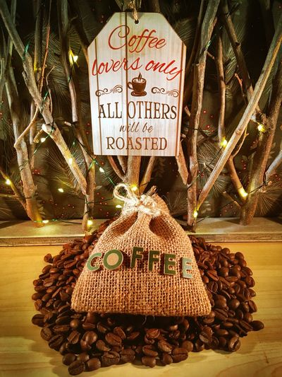 Text Communication No People Retail  Night Illuminated For Sale Market Outdoors Christmas Ornament Coffee Time Coffee Life
