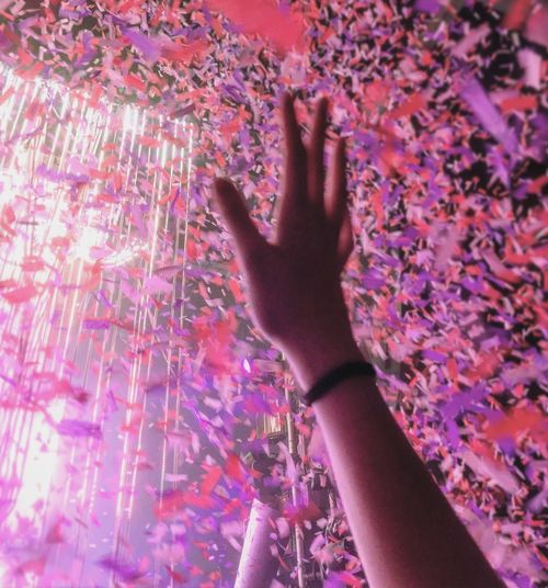 Human Hand Human Body Part One Person Human Arm Pink Color Real People Confetti Happiness Event Close-up Indoors  The Flaming Lips Flaming Lips Millennial Pink Love Yourself