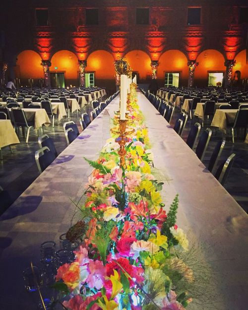 The Nobel banquet Nobel Nobel Prize Banquet Interior Stockholm Tables And Chairs Flowers Flower Decoration