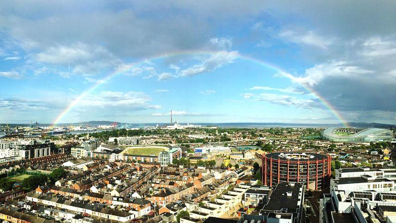 when Dublin shows its beautiful side | Summer Rainbow Coast Ireland