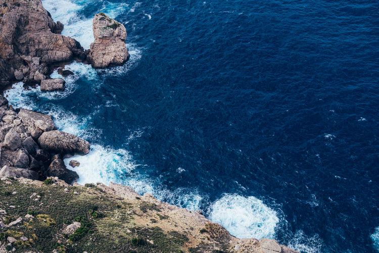 Palma de mallorca rocky coast