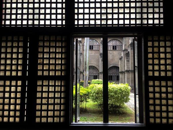 Looking outside. Architecture Courtyard  Cathedral Looking Outside Looking Out Look Closer Old Windows Old Window Perspective Intramuros Manila St Agustine Historical Place Historical Historical Building Religion Church A Room With A View Looking Out Of The Window A Window Architecture Window Arch Built Structure Indoors  Day History No People Travel Destinations Close-up EyeEm Ready   EyeEmNewHere