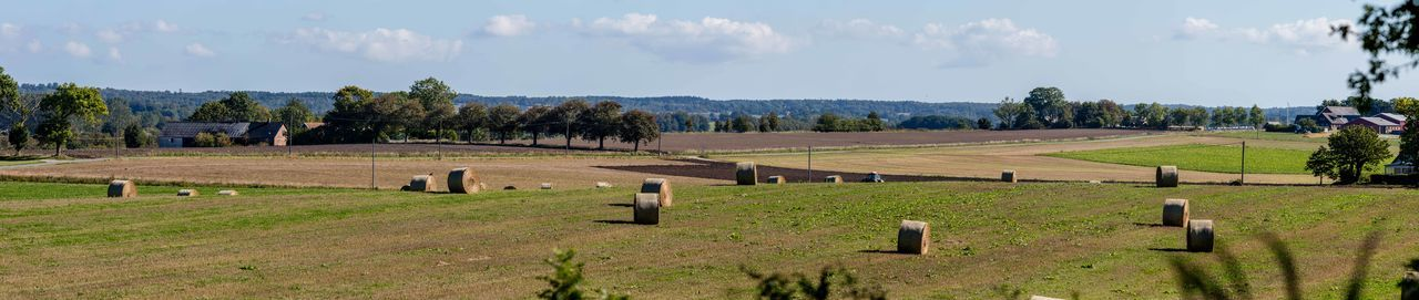 Agriculture Countryside Field Hay Hay Bales Nature No People Outdoors Panorama Scenics Sunny Sweden