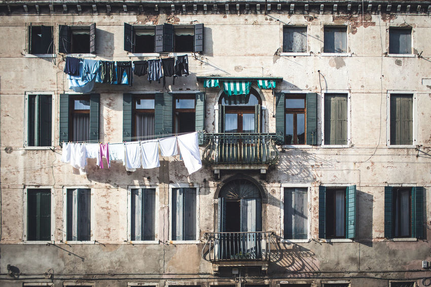 The Italian series / Canon 5d / 35mm Architecture Building Building Exterior Built Structure Clothesline Clothing Day Drying Hanging House Laundry Low Angle View Nature No People Old Outdoors Residential District Sunlight Textile Window