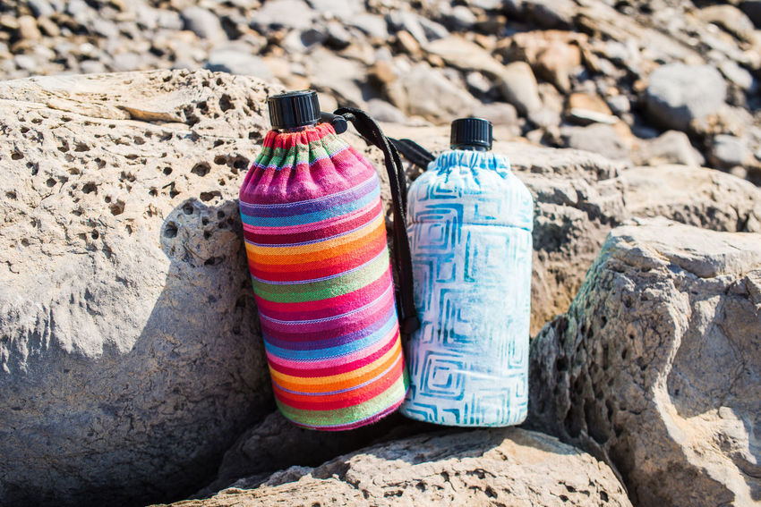 Hiking Nature Rock Rock Formation Travel Water Bottle Vacations Adventure Bottle Drinking Mountains Multi Colored Outdoors Pair Punta Chiappa Rock - Object Tarveling Tourism Travel Accessories Vacation Water Bottle