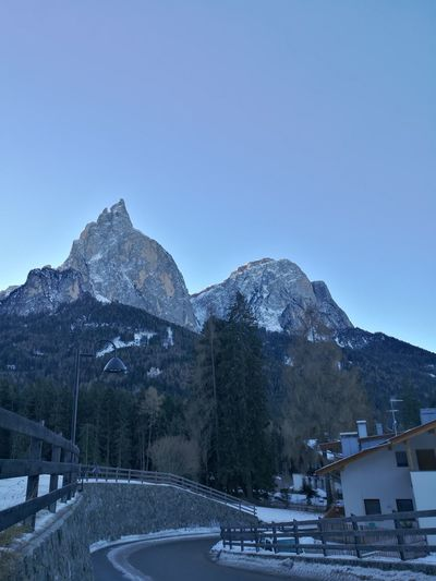 UNESCO World Heritage Site Christmas Holidays Dolomiti Italy Huaweiphotography Huawei P9 Leica HuaweiP9 Morgana Snow Mountain Winter Cold Temperature Outdoors No People Tree Snowcapped Mountain Scenics Mountain Range Beauty In Nature Water Nature Day Clear Sky Sky
