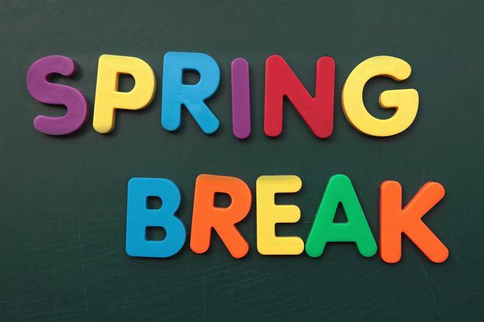 Spring break out of colorful letters on blackboard Blackboard  Break Chalkboard Education Learning School Schoolboard Spring Break Studying SUMMER BREAK