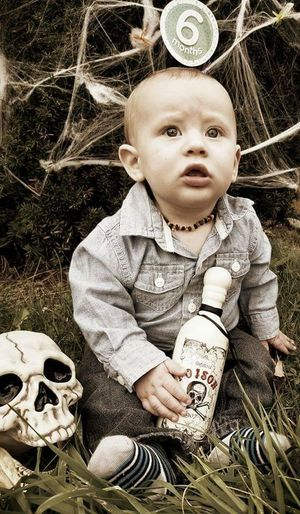 spooky cuteness Halloween Skulls Spider Webs October 31st Toddler  Innocence 0-11 Months Baby Boys Little
