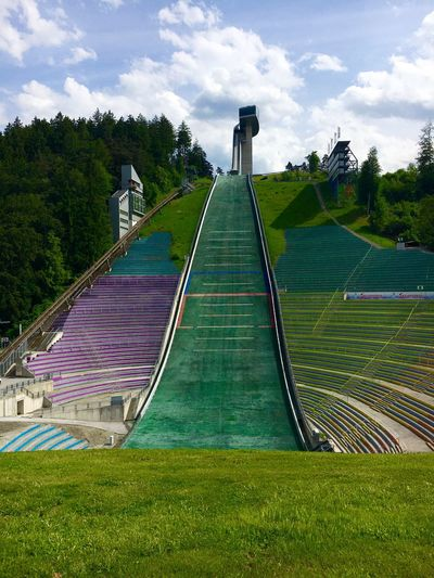 Bergisel Skijumping Stadium Outdoors Low Angle View Architecture No People Landscape_photography Famous Place ZahaHadid Innsbruck Austria Bergisel
