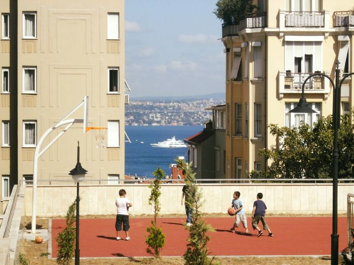 Kids in İstanbul Istanbul Boğaz Köprüsü Day Outdoors Architecture Building Exterior People City Adults Only