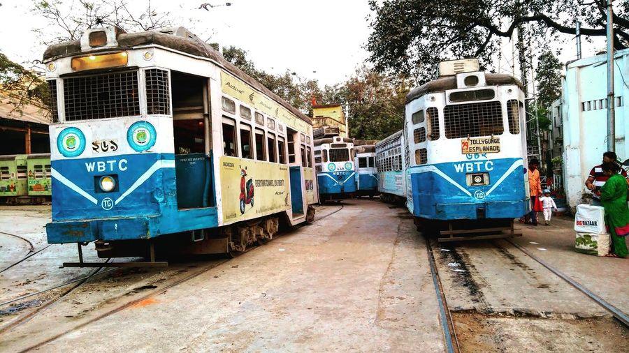 Old kolkata in new way Graffiti Sky Tramway Tram Track Railway Track Public Transportation Capital Letter Moving