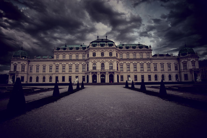 Architecture Belvedere Belvederecastle Building Building Exterior Built Structure City Cloud - Sky Direction Dusk Façade Government History Nature No People Outdoors Overcast Sky Storm Storm Cloud The Past Travel Travel Destinations