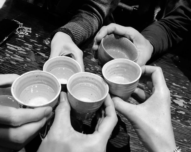 Sake Glass Ocyoko おちょこ Sake 宴会 仲間 日本酒 乾杯 Hand Human Hand Holding Human Body Part Real People Food And Drink Drink Cup Lifestyles People Refreshment Unrecognizable Person Personal Perspective Friendship Body Part Mug Indoors  Finger Glass Tea Cup