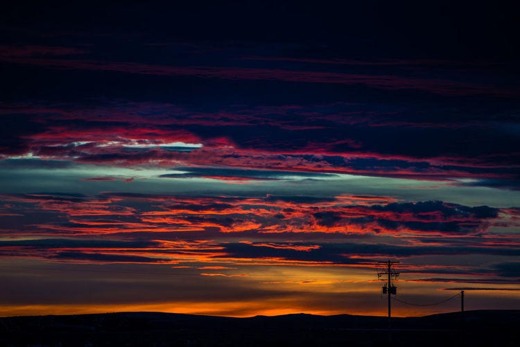Beauty In Nature Cloud - Sky Day Electricity  Electricity Pylon Fuel And Power Generation Mountain Nature No People Outdoors Scenics Silhouette Sky Sunset Technology Tranquil Scene Tranquility