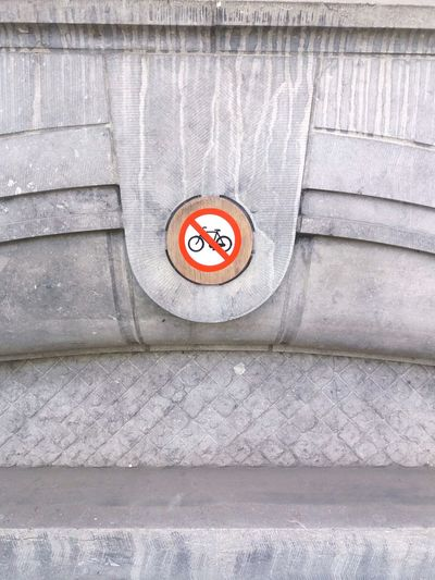 No bikes allowed Amsterdam Bike Cycling No Bikes Allowed Sign Signage Indoors