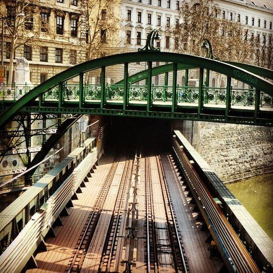 Bridge over bridge Bridges Vienna Wien Wienmitte architecture modernarchitecture