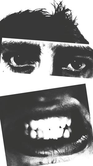 Collage Close-up Human Face Mask - Disguise Hairstyle Eyeball Staring Eyebrow Human Eye Black And White Light And Shadow