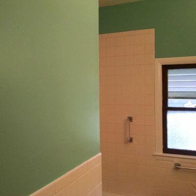Bathroom walls.