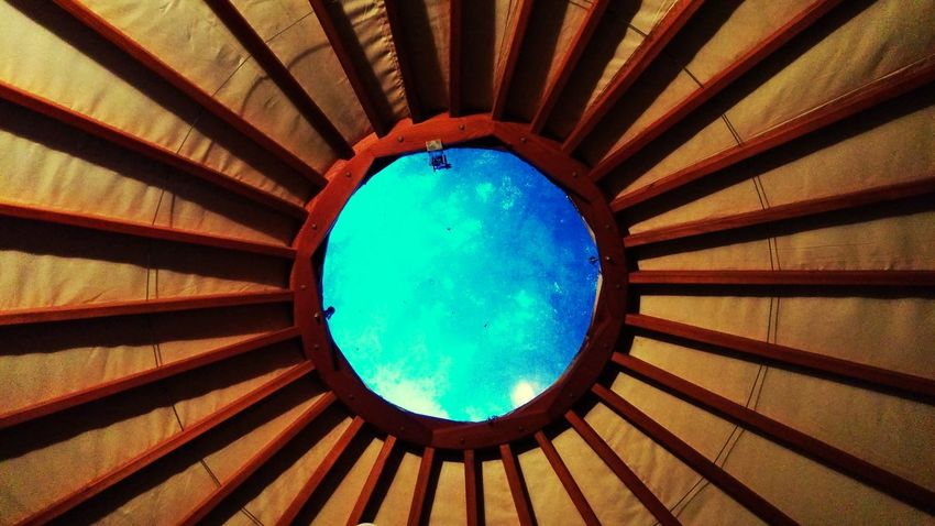 Yes, this is the roof of a yurt. Idec. Yurt Camping Sky