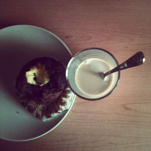 Muffin & coffee. Midietadelestudiante Exams Stress Amblamanela