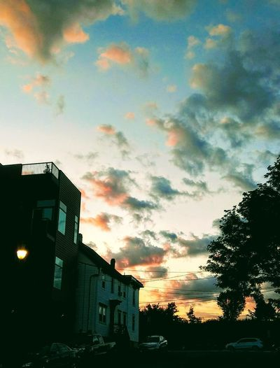 Evenings gift ~ Sunset Loving The Sky Color Of Life Loving The Landscape Beauty In Nature Taking A Walk Happiness Nature Lover No People Portland Maine Love My City Love Fall Sunset Tree City Silhouette Multi Colored Dramatic Sky Sky Architecture Building Exterior Built Structure Scenics Atmospheric Mood Tranquility