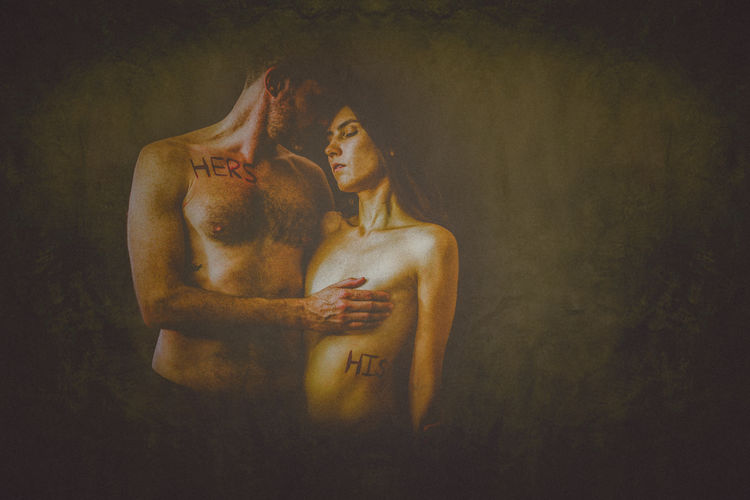 Creative Photography Engagement Love The Creative - 2018 EyeEm Awards Adult Art Art And Craft Couple - Relationship Creativity Positive Emotion Shirtless Studio Shot Togetherness Young Adult Young Men