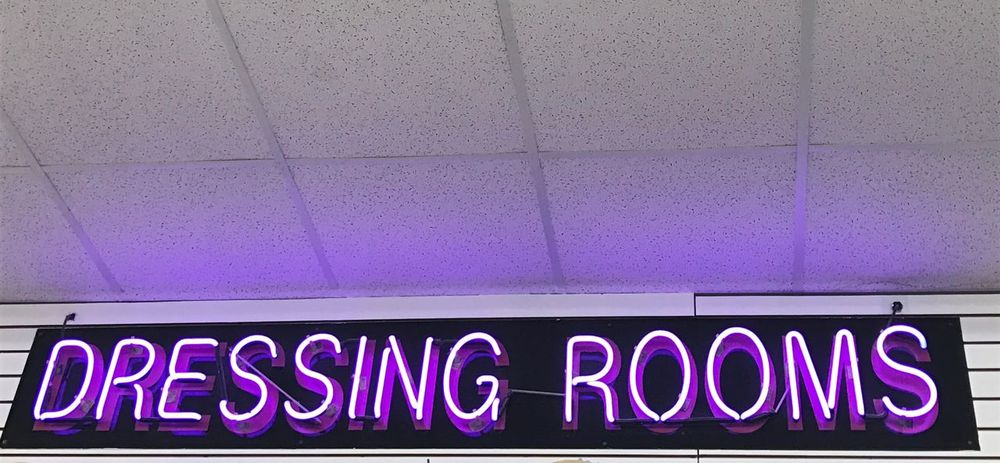 Neon Neons Text Purple No People Close-up Lights Dressing Room