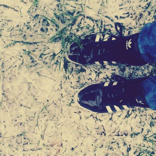 yesterday in gummersbach Snow Adidas TodayValentiensday MissU♡ my shoes :D #germany#swag