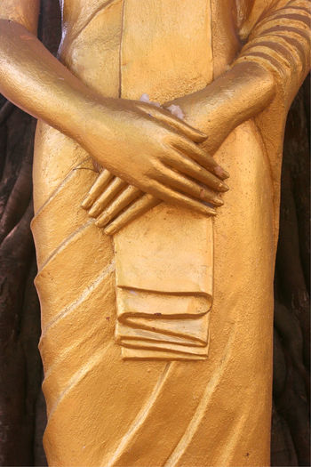 It is not all gold that glitters... Buddah Hands Statue Vientiane, Laos Ancient Civilization Close-up Day Detail Folded Gold Colored Human Body Part Human Hand Indoors  No People Sculpture Statue