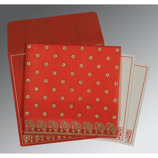 Red Wooly Floral Theme Wedding Invitation - D-8218M – 123WeddingCards Floral Invitations Floral Invites Floral Wedding Invitations Wedding Invitation Stationery Wedding Invitation