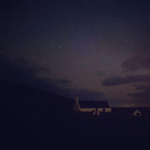 Night Built Structure Sky Building Exterior Architecture Beauty In Nature Nature Outdoors Star - Space Astronomy No People Low Angle View Scenics Galaxy Mwnt Long Exposure Nightphotography
