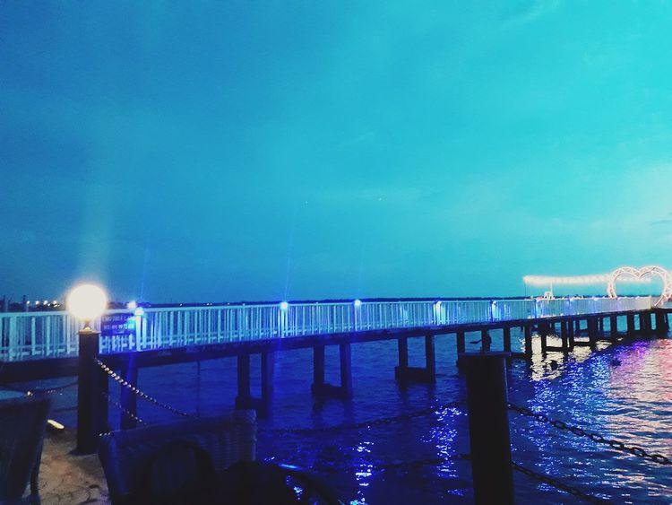 Water Illuminated Sea City Beach Clear Sky Harbor Sky Architecture Horizon Over Water