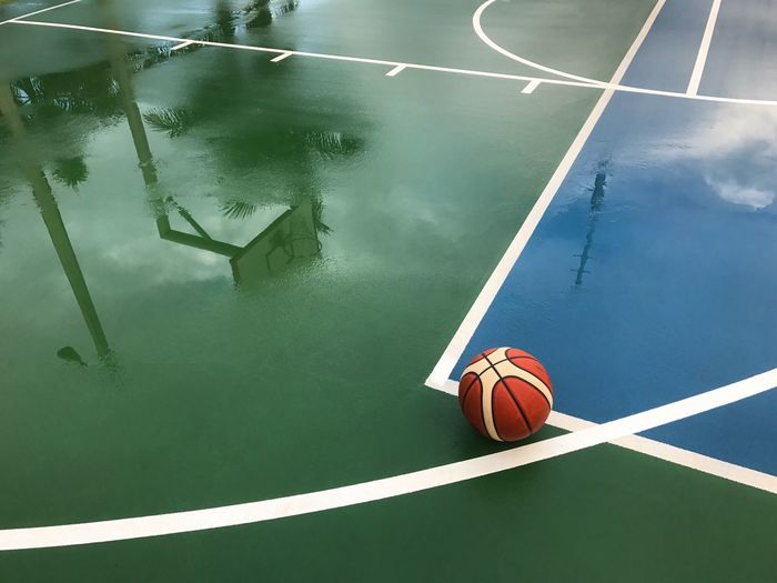 Rainout basketball game. Basketball - Sport Sport Court Ball High Angle View Basketball Hoop Basketball Player Day No People Indoors  The Week On EyeEm EyeEmNewHere Mix Yourself A Good Time Outdoors Wet Rainy Days Reflection Reflections In The Water Rethink Things EyeEm Ready   The Graphic City Colour Your Horizn Stories From The City Visual Creativity The Still Life Photographer - 2018 EyeEm Awards Summer Sports #urbanana: The Urban Playground A New Perspective On Life 17.62°