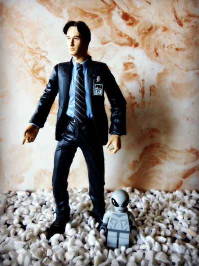 Buddies Alien Fox Mulder LEGO The X-Files Day Front View Full Length Indoors  Looking Away Mcfarlane Toys Toy Wall - Building Feature