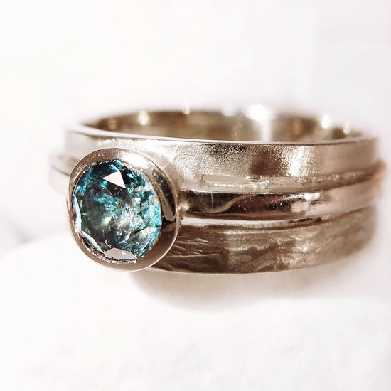 Diamond Ring Blue Diamonds White Gold Jewelry Product Photography Ring Close-up ring by Nico Taeymans Your Design Story What Who Where