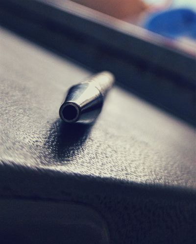 Close-up Pen Point Of View Metaillic Metal Grey Silver  Greyscale