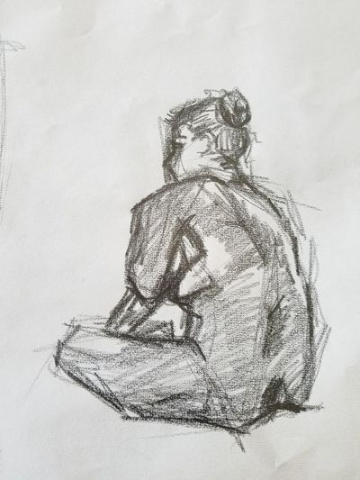 place to sit Arts Culture And Entertainment GraphitePencil Graphite Graphite Art person Digital Composite People Creativity Communication Copy Space History Representation Human Representation Art And Craft Adult Human Body Part