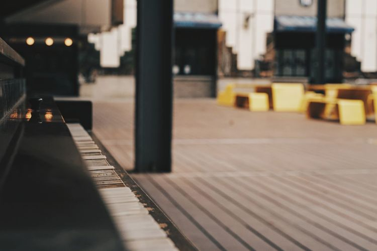 Old piano outdoor